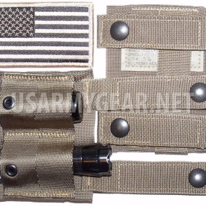 USMC Army Coyote MOLLE Keeper Alice Adapter Belt Clip Pouch SDS US Flag Patch
