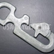 New Army Universal Parachute Static Line Snap Hook PN 11-1-6991-1 D Ring