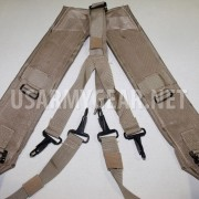 Army Military Alice LC-2 Desert Tan Coyote LBE Y Shoulder Straps DCU Suspenders
