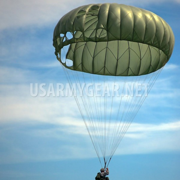 1 & US Army MC1-1C/D T-10 Military Personnel Parachute 35 Ft Canopy ...