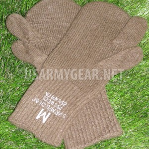 US Army Military Old School OD Wool Trigger Finger Mitten M 1948 Sniper Gloves M