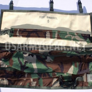 US Army Military Machine Gun Spare Barrel Rifle Carrying Case Range Bag Woodland