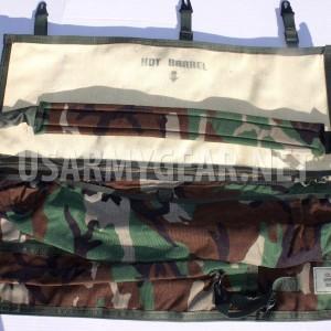 US Army Military Machine Gun Spare Barrel Rifle Carrying Case Range Bag Woodland