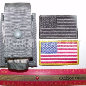 NEW Made in USA MOLLE II 40mm High Explosive ACU Single Pouch + US Velcro Flag