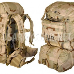 US Molle 2 Large Desert Ruck Sack Main Bag Back Pack Frame Shoulder Straps Waist