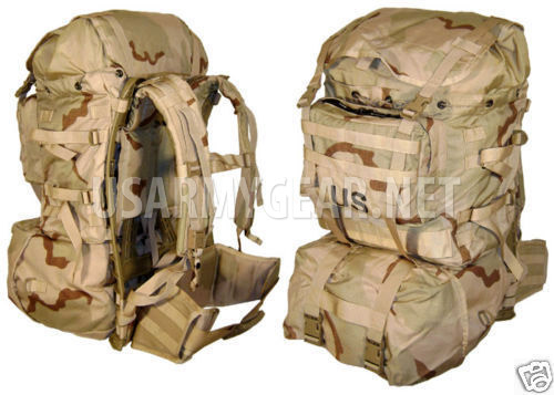 NEW Molle 2 Large Desert Ruck Sack, Back Pack, Frame Set | US Army Gear