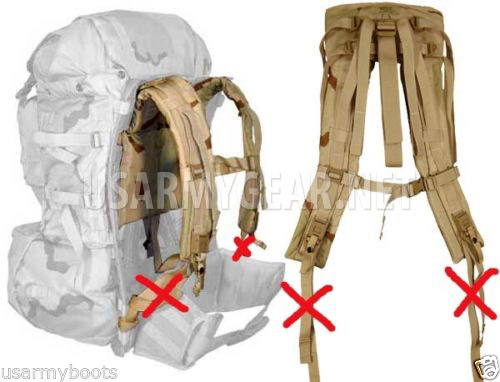 NEW MOLLE II Desert Camo Back Pack Shoulder Straps | US Army Gear