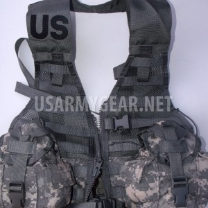 NEW US ARMY ACU MOLLE II FIGHTING LOAD CARRIER VEST FLC LBV w 2 Canteen + Cover
