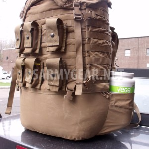 USMC FILBE US Marine Coyote Main Bag Pack + Pouches No Frame No Shoulder Straps
