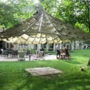 US Parachute Party Tent Garden Canopy Sun Shade Gazebo Wedding Patio Umbrella