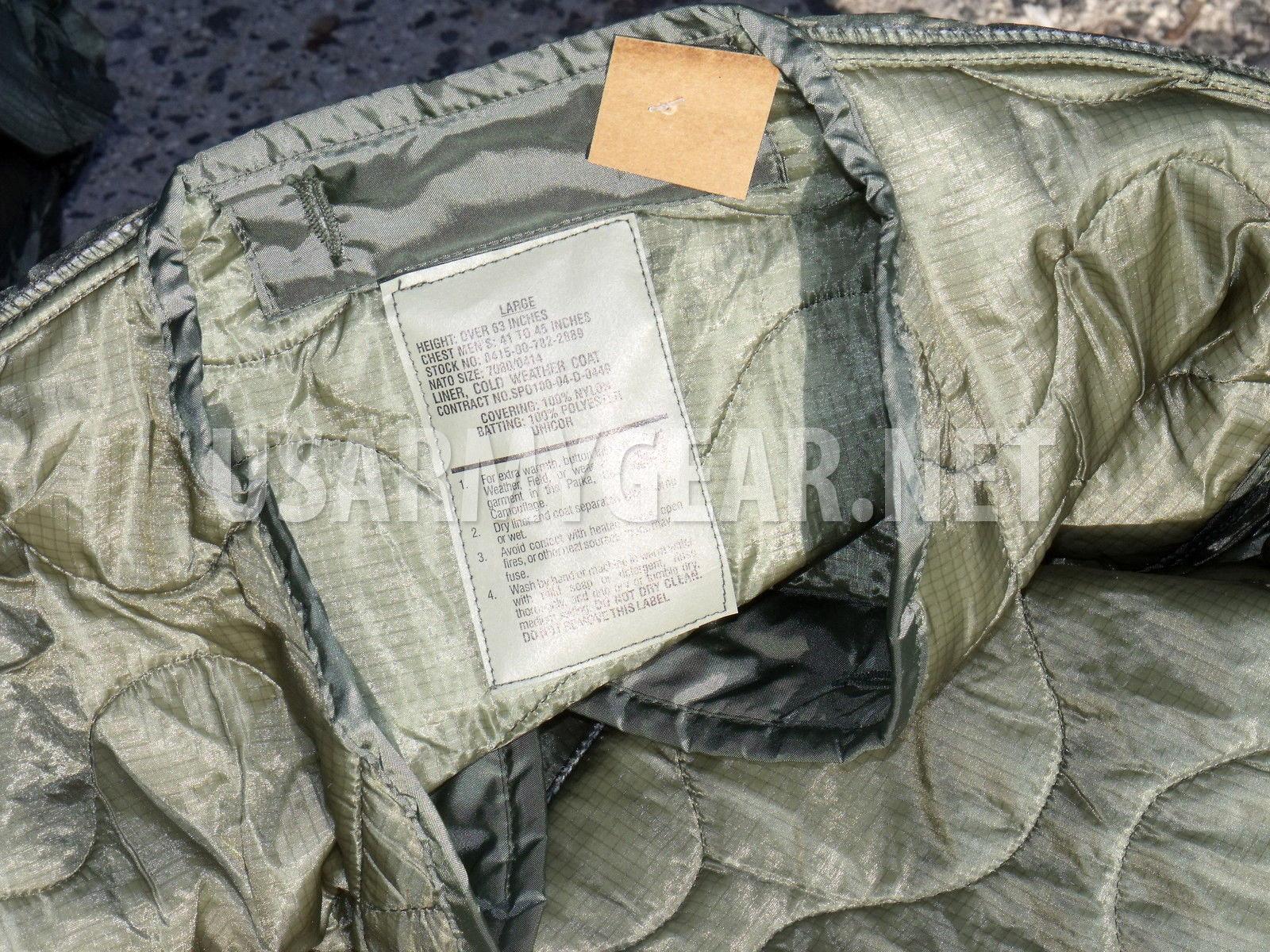 M65 coat liner jacket cold weather size XLarge military