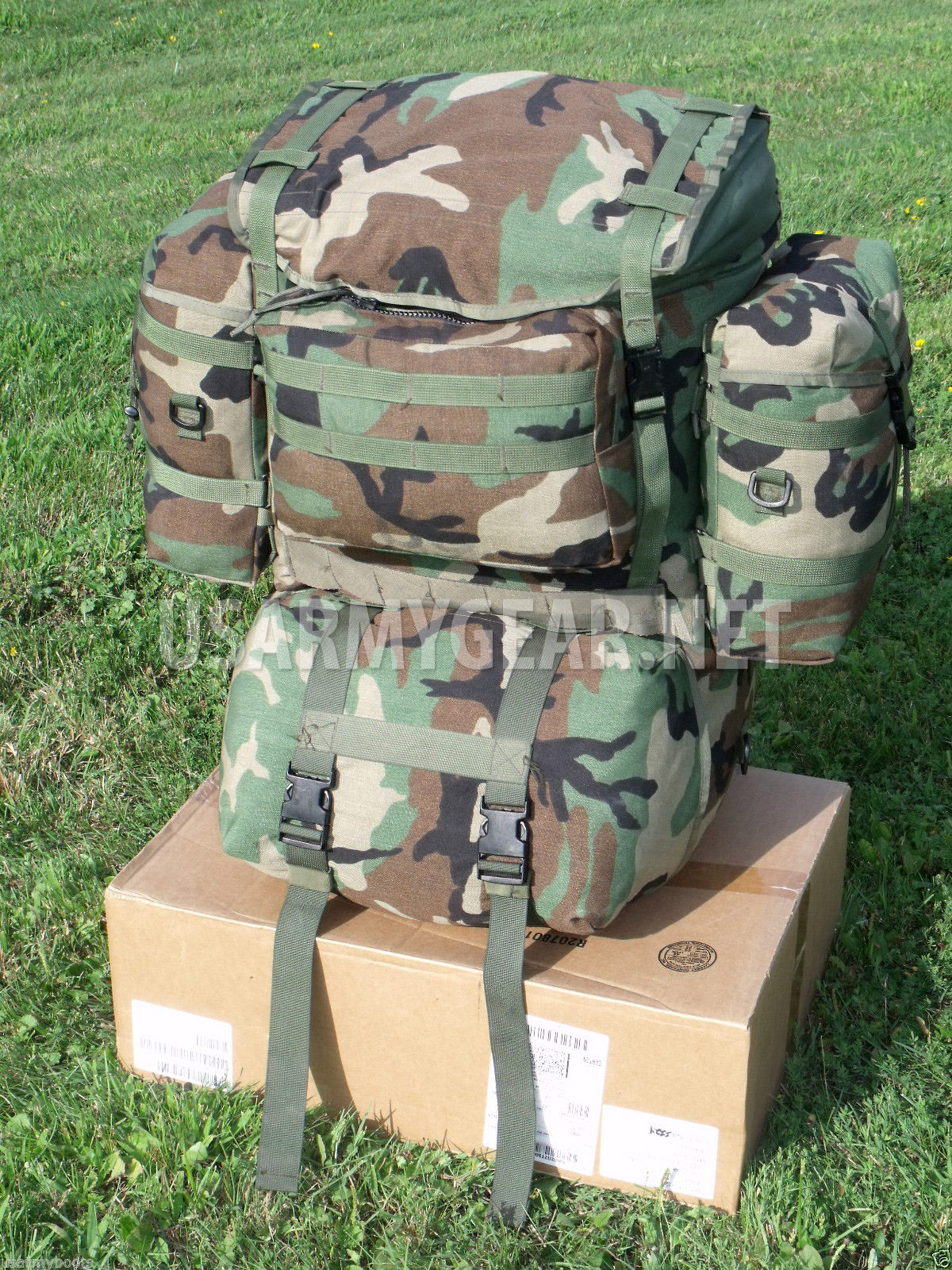 New Molle Woodland Camo Sleep System Carrier Bag Us Army