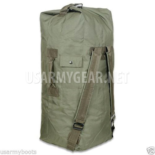 New Military Duffle Bag Sea Od Green Top Load W Shoulder Straps Us Army Gear