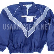 USAF Air Force PT Jacket, Workout Jogging Uniform, Windbreaker Rain Coat
