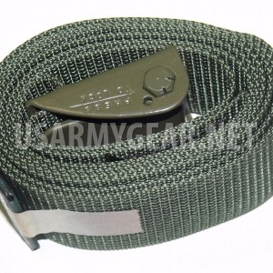 "US Army Military 6' 72"" OD Green Webbing Cargo Straps 2"" Metal Buckle Spring GI"