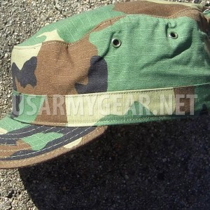 US Army Military Woodland Camouflage USGI Patrol Cap Hat Cover