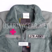 US Army Polartec Cold Weather CW Foliage ACU Green Fleece Military Shirt Jacket