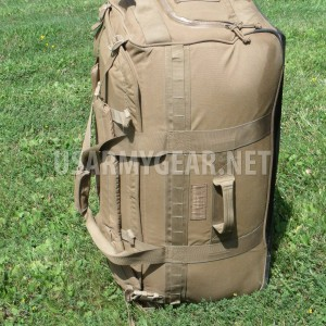 USMC Force Protector Gear Deployer 65 USGI Deployment Bag on Wheels Coyote Brown