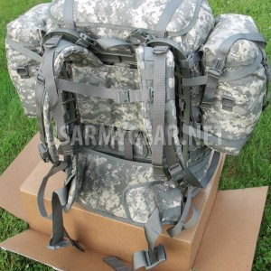 US Army MOLLE II SDS ACU Rucksack Digital Back Pack Complete Set Very Good Cond+