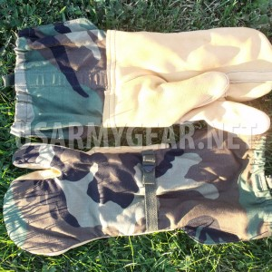 Trigger Finger Woodland Camo Gloves OD Mitten Insert Army Cold Weather Military