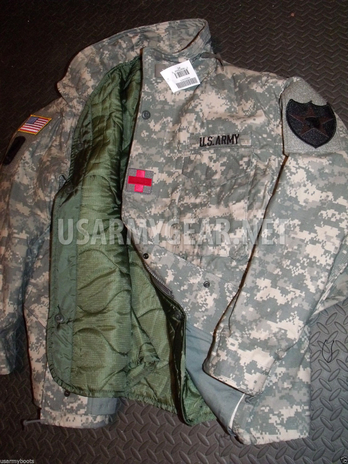 708883c31961c 15 Made in USA M65 Foliage Green Field Coat Liner quilted ACU ...