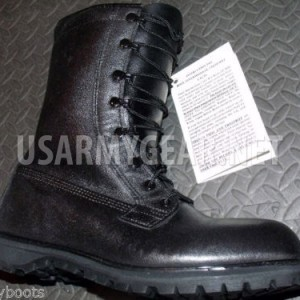 NEW US ARMY BLACK LEATHER,COMBAT GORETEX WATERPROOF ICW BOOTS 9 R-W military GI
