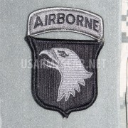 NEW US ARMY 101st AIRBORNE DIVISION ACU PATCH w. TAB Velcro AUTHENTIC 2ND freeSH
