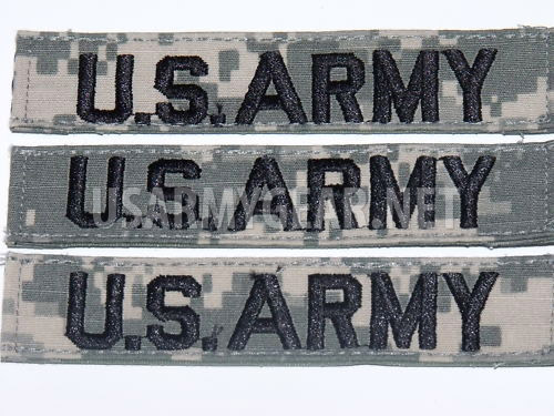 1 New US ARMY Military Digital Acu Tape Uniform Removable Velcro Patch Tab  Rank