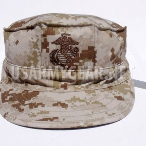 Marine Corps Fatigue Cap USMC 8 Point Cover MARPAT Desert Camo EGA New XS w Logo