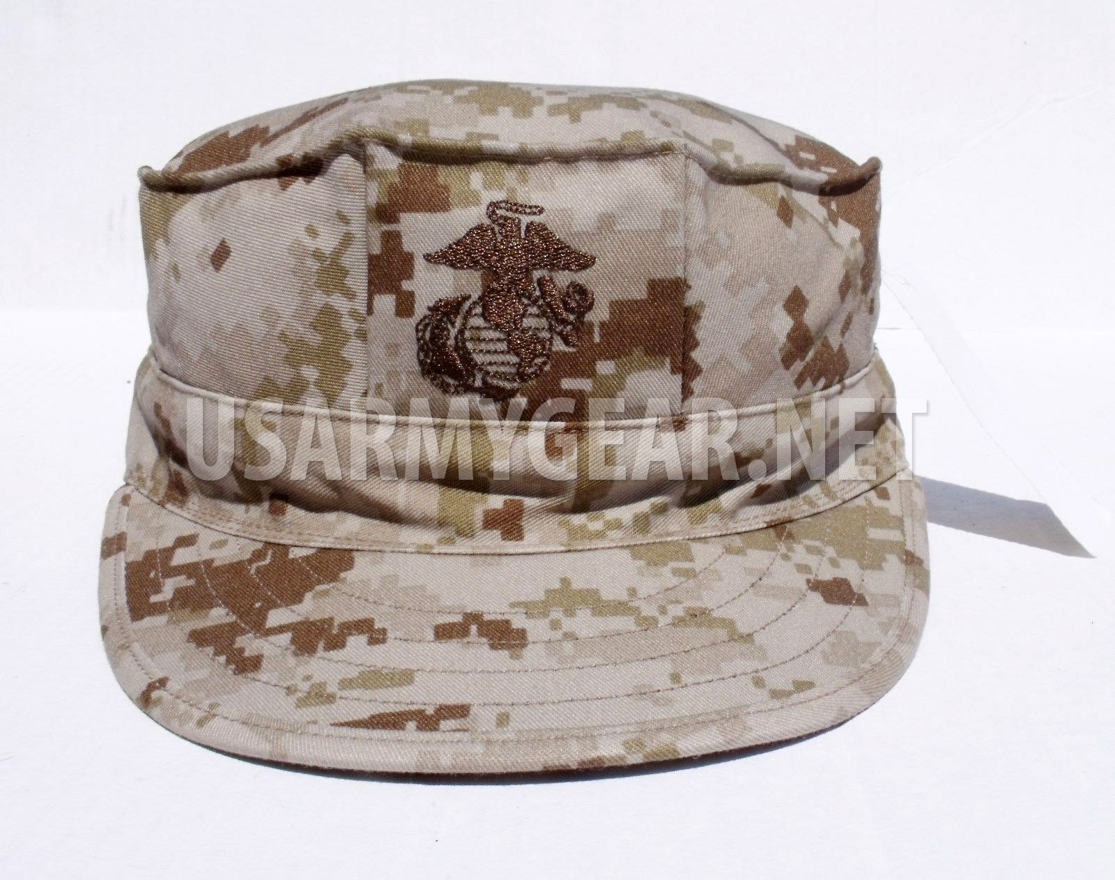 eb18d99c Marine Corps Fatigue Cap USMC 8 Point Cover MARPAT Desert Camo EGA ...