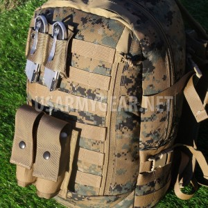 New USMC ILBE Marpat Marine Assault 3 Days Back Pack + Coyote Pouches Flag