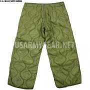 US Army Military Cold Weather M65 Quilted OD Green Trousers Field Pants Liners