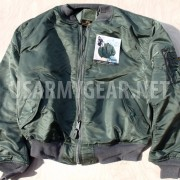 Made in USA New ALPHA Us Air Force MA1 Flight Jacket 2XL XXL Army Military Green