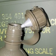 US Army 2 Quart QT L Military Collapsible OD Plastic Canteen M1 NBC Cap