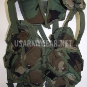 US Army Tactical Woodland Load Bearing Vest LBV USGI Paintball Survivor Bug Out