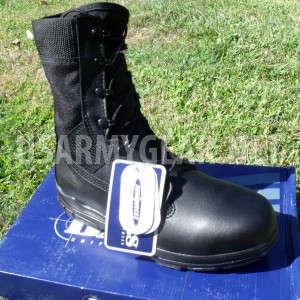 "US Army Bates Military Steel Toe Oil Resistant 8"" Black Leather Combat Boots 7.5"