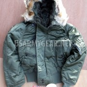 Made in USA Cold Weather N-2B Parka Pilot Military Bomber Air Force Jacket Coat