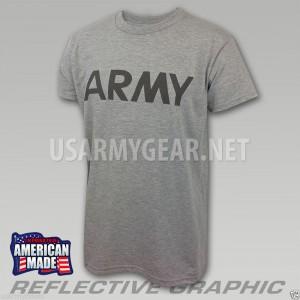 US ARMY Grey Moisture Wicking PT PTU Short Sleeve SS T-Shirt