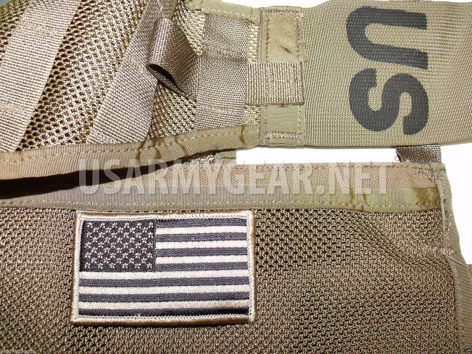 New Coyote US Army American Flag Military Uniform Velcro Patch Standard