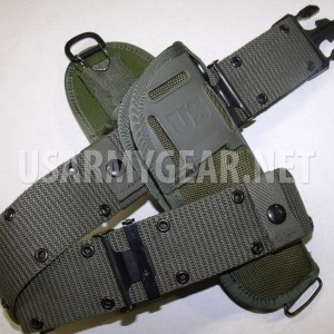New US Army Military M12 Holster OD M-12 19200 Ballistic Nylon LC1 2 Pistol Belt