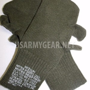 New US Army 1 Pair of Wool Trigger Finger Mitten Insert Glove Liner Set M USGI
