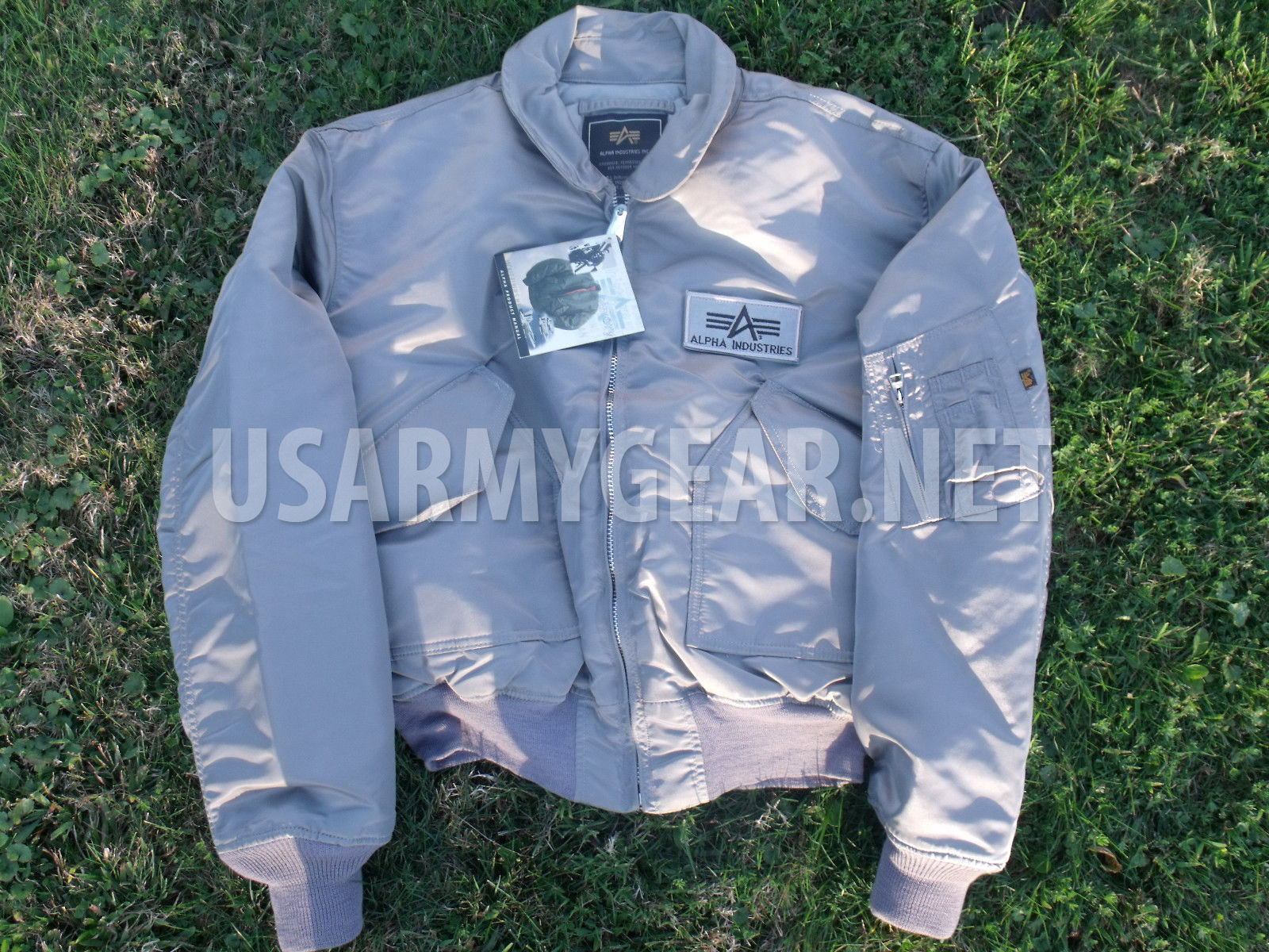 best website bacd4 02e8d Made in US Alpha Industries CWU-45P Army Military Pilot Bomber Flight  Jacket XXL