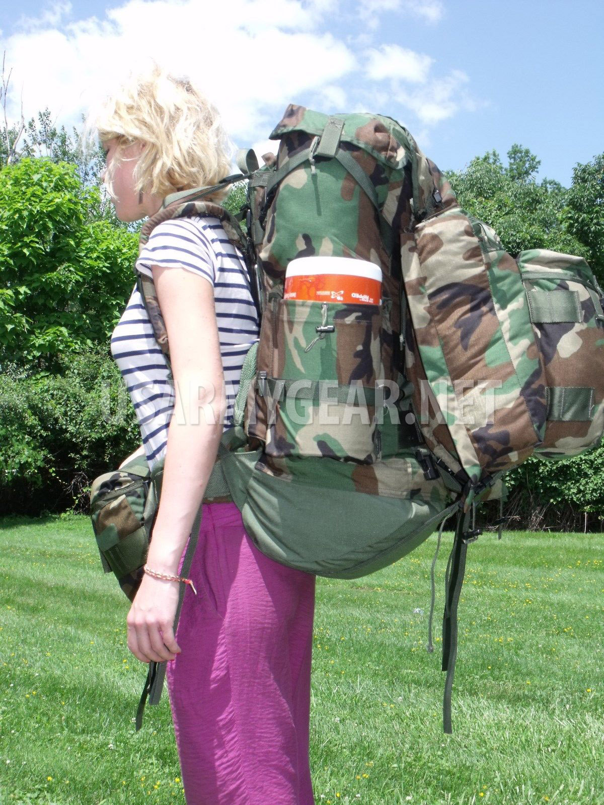 Woodland Large Field Pack Internal Frame + Patrol Pack SDS Back Pack ... a781d58e03