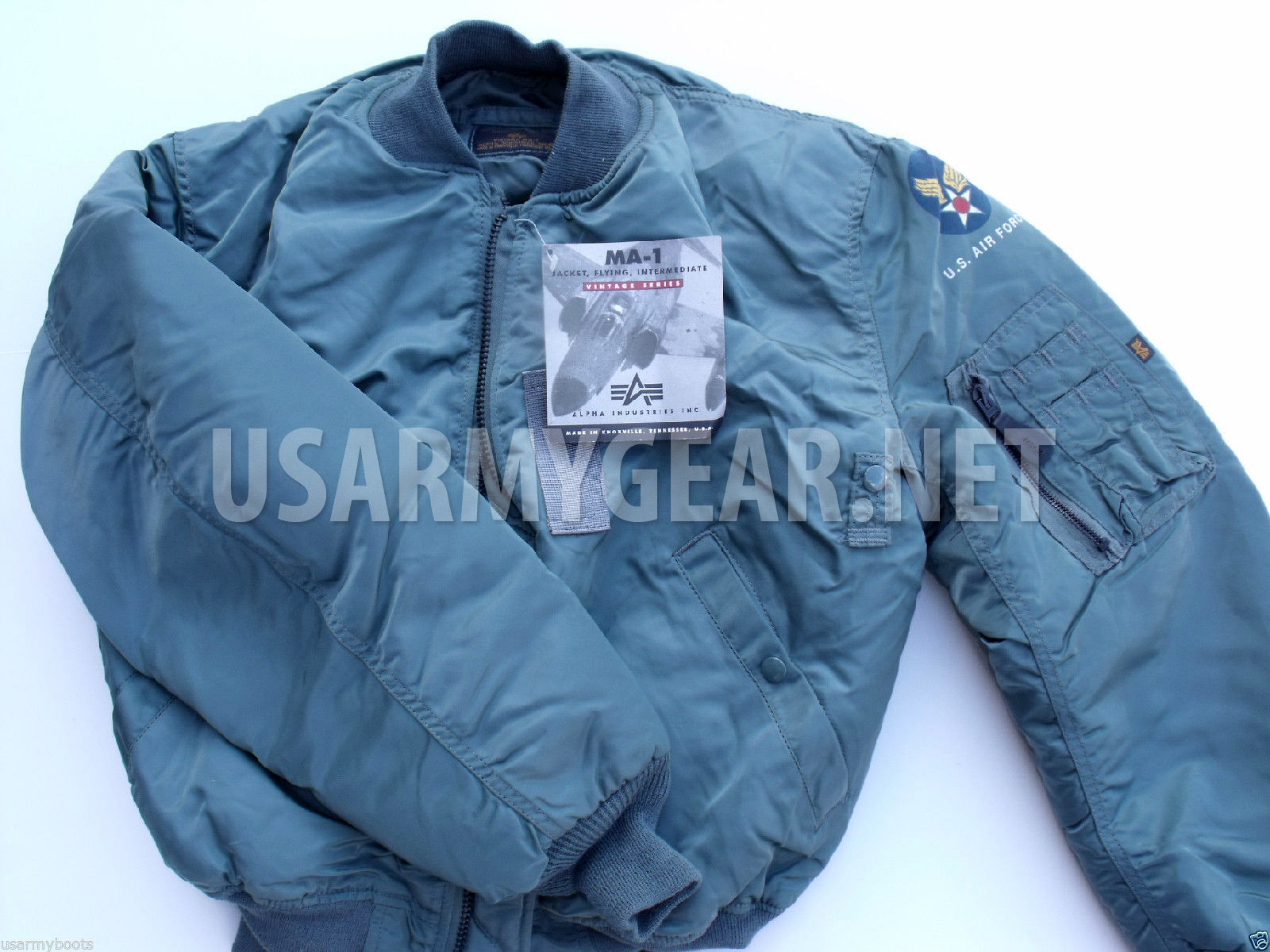 6dd6f8bd060 Vintage ALPHA Made in US  96 NEW oldstock MA-1 PILOT FLIGHT JACKET ...