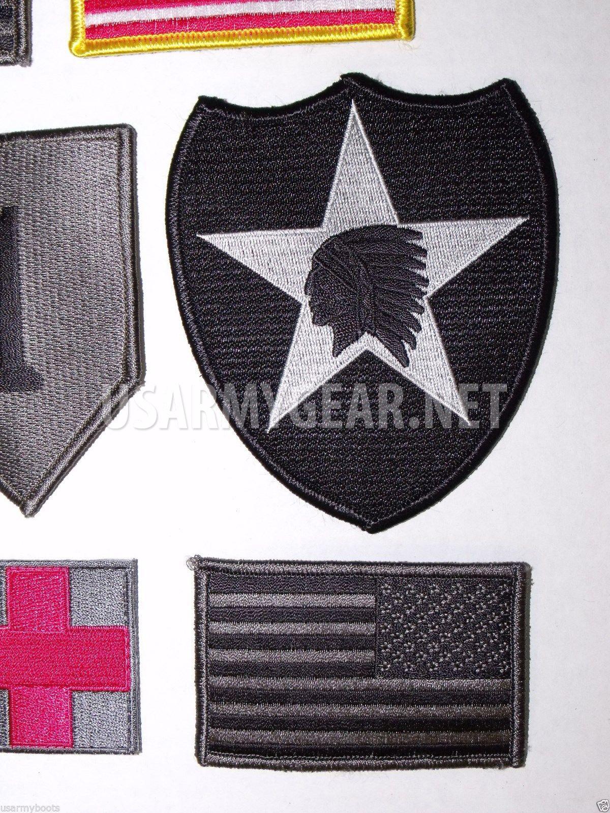 Set of 9 US Army American Flag Military Uniform Velcro ... - photo#28