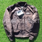 Made in USA Alpha Industries CWU-45P Pilot, Bomber, Flight Jacket, Dark Brown
