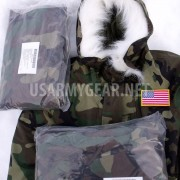 New US Army Cold Wet Weather Gen 1 ECWCS Woodland Goretex Parka Jacket +Fur Hood