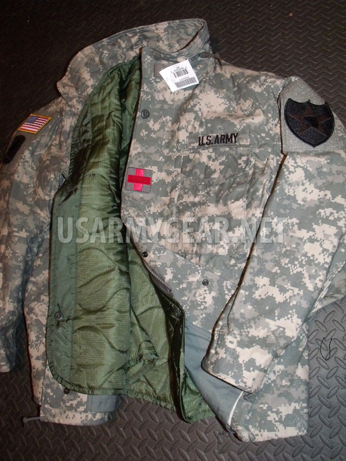 New Acu Military M-65 Field Cold Weather Combo Coat Jacket + Liner + Cap +  Gloves