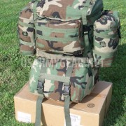 Made in USA Army Molle 2 Large Ruck Sack Woodland Back Pack System Set Bug Out