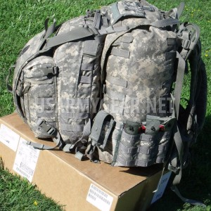 Loaded US Army ACU Back Pack Set 3 Days Assault Hydration Carrier Pouches + Xtra